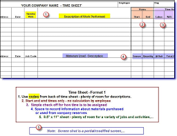 timesheets for construction companies english only version