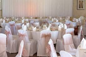 pink sashes for chairs pink wedding breakfast room