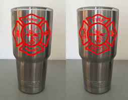 firefighter maltese cross decal for yeti rtic tumbler zoom