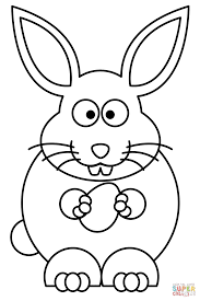 easter rabbit with egg coloring page free printable coloring pages