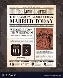 Visa Black Card Invitation Vintage Newspaper Wedding Invitation Template Vector Image