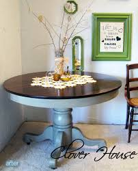 Cream Colored Dining Room Furniture by Paint An Old Oak Table And Stain The Top Pretty I Want To