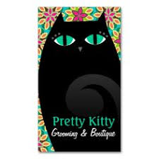 Make My Own Business Card Pretty Kitty Paired With A Lovely Pink Background Make This