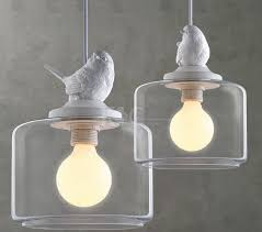 Bird Pendant Light Modern Bird Glass Pendant Light Bar Vntage American Rustic