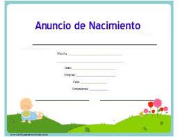formato de acta de nacimiento en blanco gratis ensayos certificado de nacimiento para imprimir los certificados gratis
