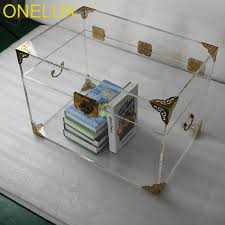 storage trunk coffee table onelux clear acrylic storage chest lucite trunk coffee table 2