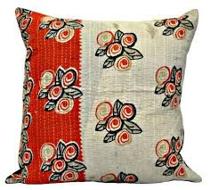 Red Floral Sofa by 24x24 Floral Sofa Pillow Covers Bedroom Sham Pillows Boho Kantha Cushi