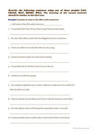 modal verbs in the past modals pinterest printables student