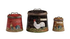 vintage rooster containers cattle kate