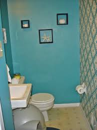 Blue Bathroom Fixtures by Updated Contemporary Beach Inspired Bathroom Crafting Up A