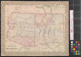 Map Of New Mexico And Arizona by County Map Of Arizona And New Mexico The Portal To Texas History