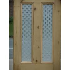 victorian 4 panel etched glass door with fleur glass design door