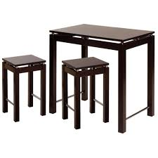 amazon com winsome linea pub kitchen set island table with 2