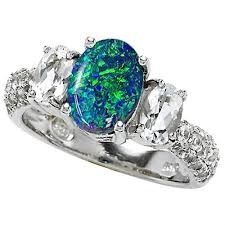Opal Wedding Rings by 32 Most Wanted Wonderful Blue Opal Engagement Rings Eternity Jewelry