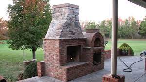 riley wood fired brick pizza oven and fireplace combo from a diy