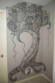 best 25 wall drawing ideas on pinterest painted wall art vine wall art elsa rhae creations