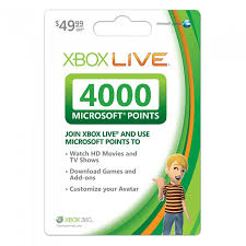 xbox 360 gift card xbox live us 4000 microsoft points