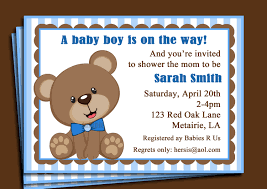 baby shower invitations teddy bear theme cimvitation