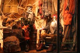 Halloween Skeletons by Halloween Skeletons In Wool Window Display 2009 At Ralph Lauren