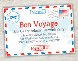 farewell party invitation bon voyage party invitation template songwol 755bb2403f96