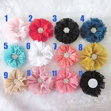2017 vintage chiffon shabby flowers with center diy