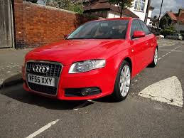 audi a4 s line tdi diesel manual 2005 55 nice red colour leather
