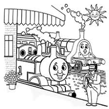 20 free printable thomas train coloring pages
