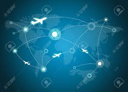 Flight Routes Map by Airplane Routes On World Map Stock Photo Picture And Royalty Free