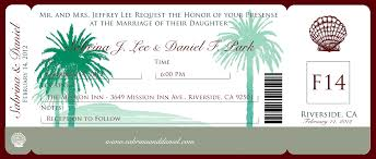 Boarding Pass Wedding Invitations Boarding Pass Wedding Invitations