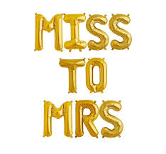 letter balloons gold 16 miss to mrs mylar letter balloons bridal party