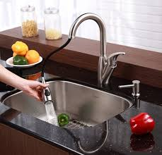 Stainless Steel Pull Out Kitchen Faucet Kraus Kpf 2121 Sd20 Single Lever Stainless Steel Pull Out Kitchen