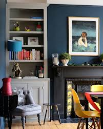 colors for dining room walls gorgeous dining room with hague blue walls and alcove shelving in