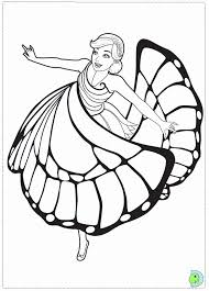 mariposa barbie coloring pages coloring