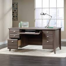 Sauder Secretary Desk by Sauder Shoal Creek Executive Desk Multiple Finishes Walmart Com