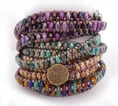 beading bracelet size images Superduo chain wrap bracelet tutorial by carole ohl pinterest jpg