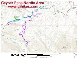Map Of Moab Utah by Gjhikes Com Geyser Pass Nordic