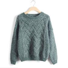 knitted sweater knitted sweater autumn winter fashion designer twist chunky cable