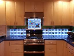 kitchen backsplash with art glass tile blocks for light u0026 privacy