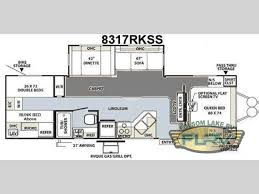 rockwood trailers floor plans used 2010 forest river rv rockwood signature ultra lite 8317rkss