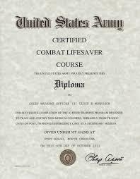 Combat Lifesaver Certificate Template combat lifesaver certificate template army certified combat