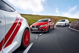 pimped out smart car honda civic type r vs vw golf gti vs renaultsport megane trophy r