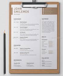 free minimal resume psd template free 22 free minimalist simple resume templates xdesigns