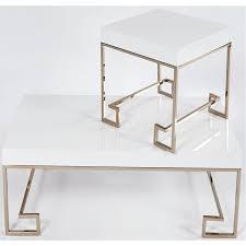 White Laquer Desk by Progressive Furniture A114 39 Coco Cocktail Table In White Lacquer
