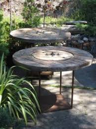 outdoor tables made out of wooden wire spools scouting craigslist episode 4 wood tables rustic outdoor and tables