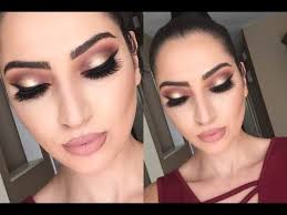 look thanksgiving makeup tutorial cranberry gold