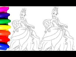 disney princess tiana coloring pages videos kids coloring book