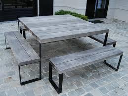Esszimmertisch Aus Paletten Quadratischer Gartentisch Aus Holz Möbel Pinterest