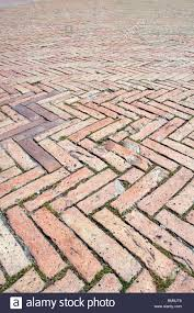 brick paving in herringbone pattern stock photos u0026 brick paving in