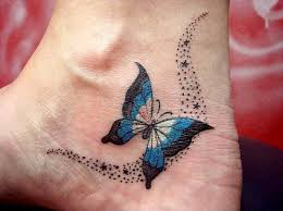 butterflies and stardust design tattoos tattoos
