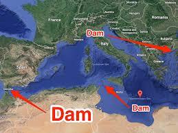 Mediterranean Sea World Map german plot to drain the mediterranean merge europe and africa